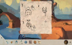 Broken Age face that's really a cow's udder untying diagram