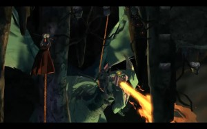 King's Quest Dragon Battle with Achaka