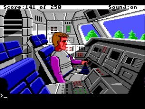Space Quest 2 Inside Shuttle
