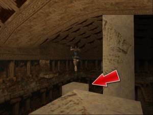 Tomb Raider 1 Level 5 - Jumping To Columns