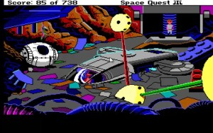 Space Quest 3 Junk Freighter Escape