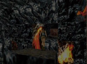 Tomb Raider 1 Level 13 Lava Tunnel