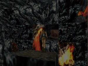Tomb Raider 1 Level 13 Lava Tunnel