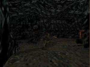 Tomb Raider 1 Level 13 Minecart room
