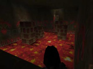 Tomb Raider 1 Level 14 Lava Pillar Room