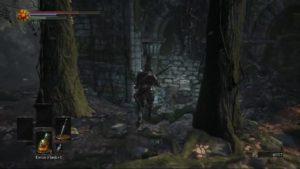 Dark Souls 3 Crucifixion Woods ruins