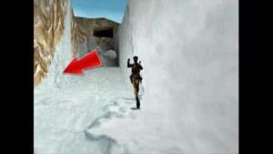 Tomb Raider 2 Level 11 Ice Wall