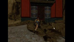 Tomb Raider 2 Level 15 Silver Key Door