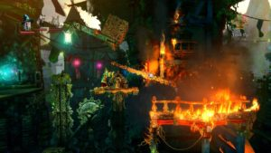 Trine 2 Goblin Menace Level 1 - Bridge on Fire