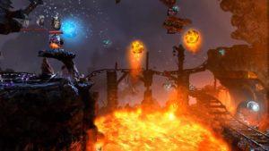 Trine 2 Goblin Menace Level 7 - Lava Lake