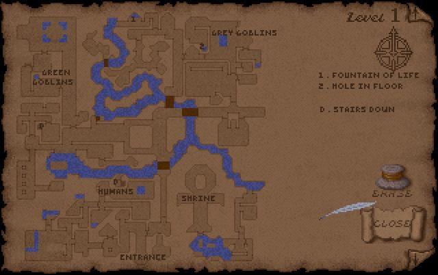 Ultima Underworld Level 1 Map