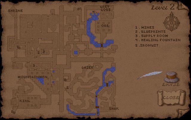Ultima Underworld Level 2 Map