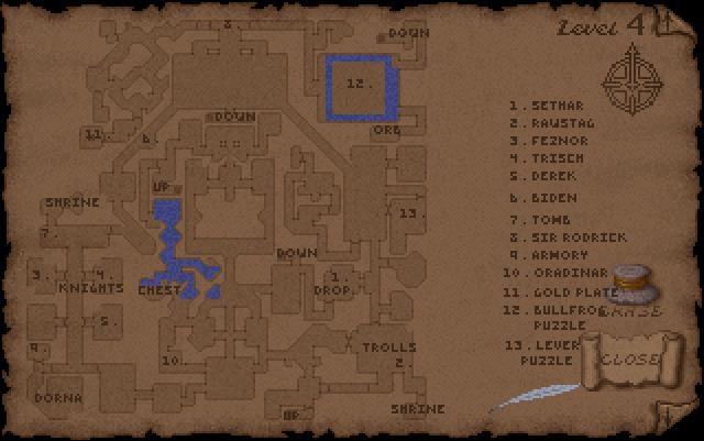 ultima underworld level 4 map
