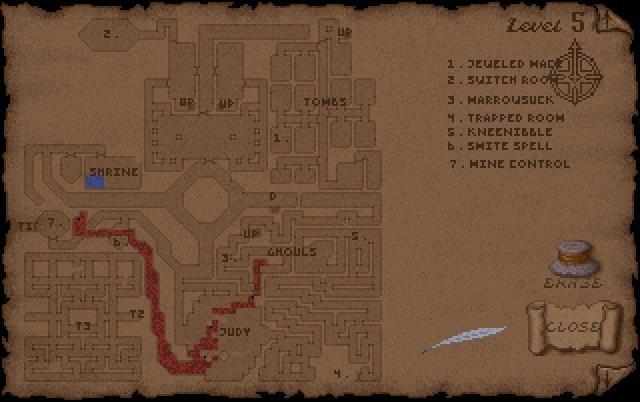 Ultima Underworld Level 5 Map